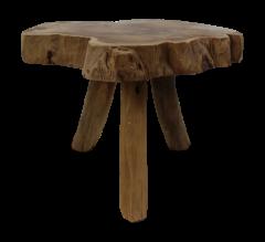 Kruk Abstract - ø40-45 cm - teak