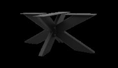 Salontafelonderstel - 3D-model - gepoedercoat zwart - metaal