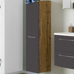 Kolomkast Gene 30cm 1 deur - wotan eik/mat grijs