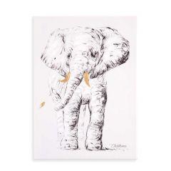 Schilderij olifant 30x40cm