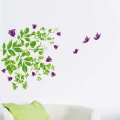 Muurstickers Leaves & Butterflies