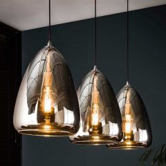 Hanglamp Sylvie 3 lampen - chroom