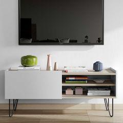 Tv-meubel Nina 140cm - eik/wit