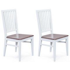 Set van 2 stoelen Cassala - wit/sepia