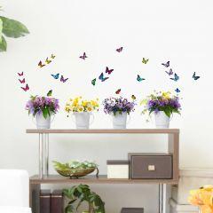 Muurstickers Wild Flowers - Large
