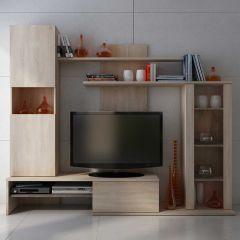 Tv-meubel Bowe 220cm - eik