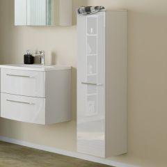 Kolomkast Gene 30cm 1 deur - wit/hoogglans wit