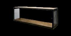 Wandplank Brixton - 98x30 cm - mangohout / ijzer