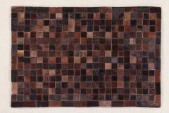 Vloerkleed In Leather Patchwork 300x200 - choco