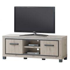 Tv-meubel Dirk 155cm met 2 deuren - eik