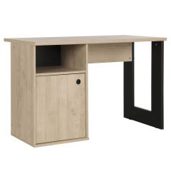 Bureau Dean bruin/zwart 120cm - Moderne stijl
