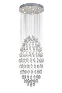 Hanglamp Drop Ø60cm - chroom - 9x50w GU10
