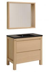 Wastafel en spiegel Erwin 90 cm