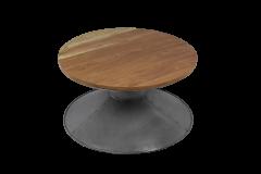 Salontafel - ø80 cm - gerecylced hout / ijzer