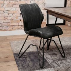 Set van 2 stoffen stoelen Joan taupe Rousseau | Emob