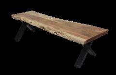Eetbank SoHo - 180 cm - acacia / ijzer