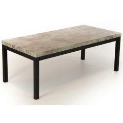 Salontafel Ganges 120cm - grijs/zwart