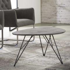 Salontafel Nier 90x60 3d texture - 3D betonlook grijs