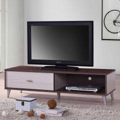 Tv-meubel Rumbo 120cm - bruin/wit