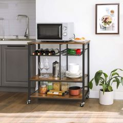 Keukentrolley Rosa - bruin/zwart