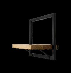 Wandplank Levels - 32x32 cm - mangohout / ijzer