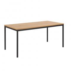 Eettafel Dover 180x90 - eik/zwart