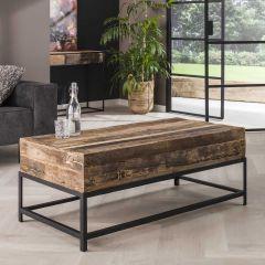 Rechthoekige salontafel Lodge 120cm gerecycleerd hout