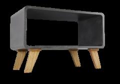 Salontafel Cube - grijs betonlook