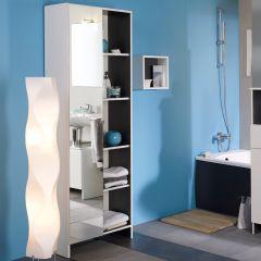 Kolomkast Artem 59cm met spiegel - wit