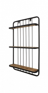 Wandplank - 50x80 cm - mangohout / ijzer