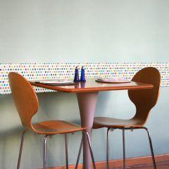 Muurstickers 3D Colorful Pois - schuimstickers