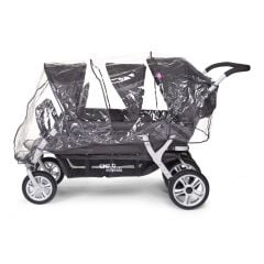 Regenhoes voor Sixseater kinderwagen