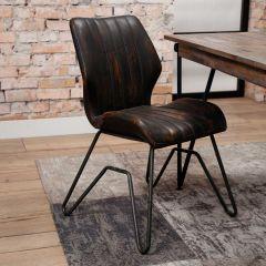 Set van 2 stoelen Brix - bruin