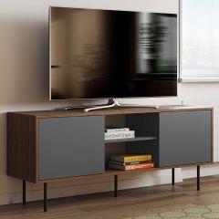 Tv-meubel Vibe 150cm - walnoot/grijs