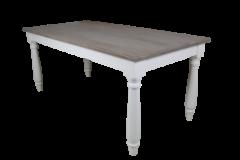 Eettafel - 200x100 cm - oud grijs / wit