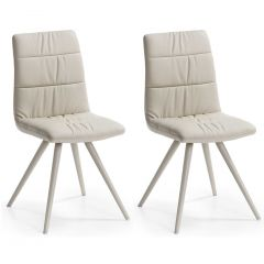 Set van 2 stoelen Larina model 2 - beige