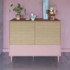 Dressoir Horizon - eik/roze