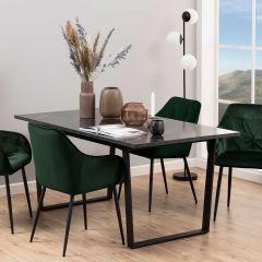 Eettafel Amanda 160x90 - marmer/zwart