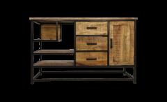 Open vakken dressoir - mangohout / ijzer