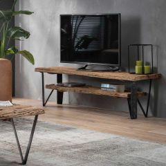 TV-meubel Wannes 160cm - bruin/zwart