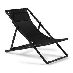 Strandstoel Mallorca - antraciet/zwart