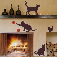 Muurstickers Cats - Large