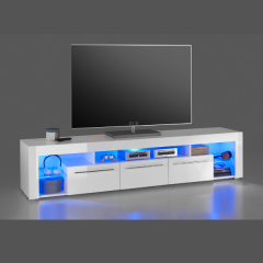 Tv-meubel Gazza 200cm met 3 lades - wit