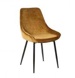 Set van 2 fluwelen stoelen Mirano - goud