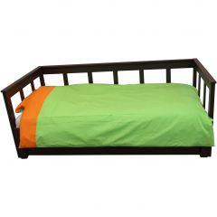 Dekbedovertrek groen/oranje
