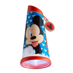 Nacht- en zaklamp Mickey Mouse