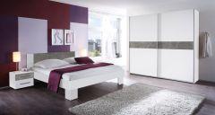 Slaapkamerset Mavic 180x200 - wit/beton