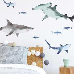 Muurstickers Sharks