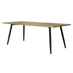 Eettafel Pyrus 160 cm - bruin/zwart