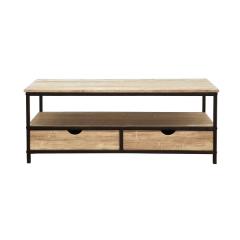 Tv-meubel Michy 106cm met 2 lades - eik/zwart